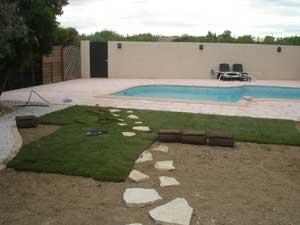 Création jardin Mazaudier Bernard piscine